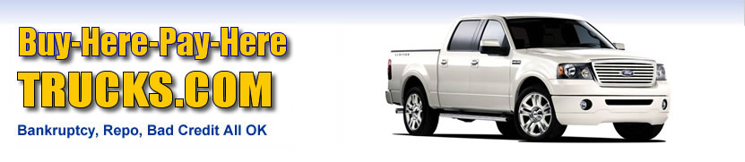 Get bad credit truck financing at our buy here pay here truck lots!